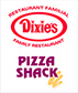 Logo Dixie et Pizza Shack Petit-Rocher